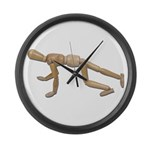 Runner Stance Large Wall Clock