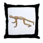 Runner Stance Throw Pillow