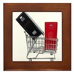 School Lockers in Shopping Ca Framed Tile