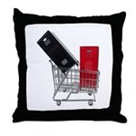 School Lockers in Shopping Ca Throw Pillow