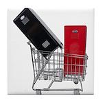 School Lockers in Shopping Ca Tile Coaster