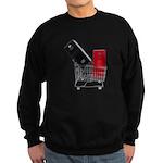 School Lockers in Shopping Ca Sweatshirt (dark)