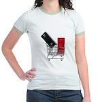 School Lockers in Shopping Ca Jr. Ringer T-Shirt