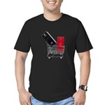 School Lockers in Shopping Ca Men's Fitted T-Shirt