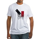 School Lockers in Shopping Ca Fitted T-Shirt