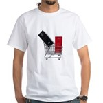 School Lockers in Shopping Ca White T-Shirt