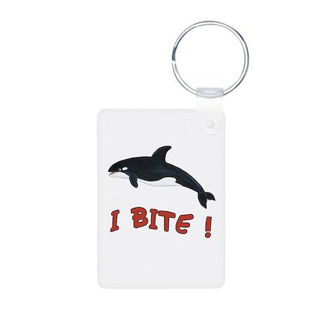 Whale - I Bite Aluminum Photo Keychain