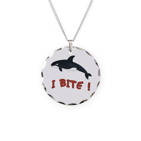 Whale - I Bite Necklace Circle Charm