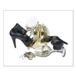 Shoes Wine Glasses Cascading Small Poster