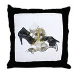 Shoes Wine Glasses Cascading Throw Pillow