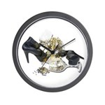 Shoes Wine Glasses Cascading Wall Clock