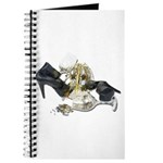 Shoes Wine Glasses Cascading Journal