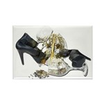 Shoes Wine Glasses Cascading Rectangle Magnet (100