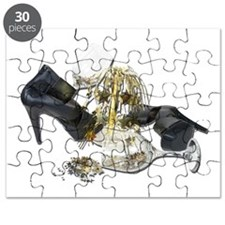 Shoes Wine Glasses Cascading Puzzle