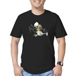 Shoes Wine Glasses Cascading Men's Fitted T-Shirt