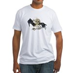Shoes Wine Glasses Cascading Fitted T-Shirt