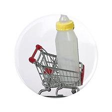 "Shopping Cart Baby Bottle 3.5"" Button"