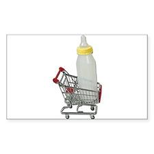 Shopping Cart Baby Bottle Decal