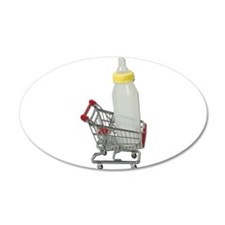 Shopping Cart Baby Bottle 38.5 x 24.5 Oval Wall Pe