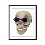 Skull Purple Glasses Framed Panel Print