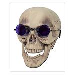 Skull Purple Glasses Small Poster
