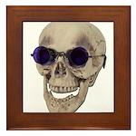 Skull Purple Glasses Framed Tile