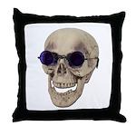 Skull Purple Glasses Throw Pillow