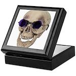 Skull Purple Glasses Keepsake Box