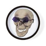 Skull Purple Glasses Wall Clock