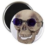 Skull Purple Glasses Magnet