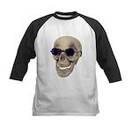 Skull Purple Glasses Kids Baseball Jersey