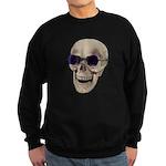 Skull Purple Glasses Sweatshirt (dark)