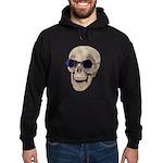 Skull Purple Glasses Hoodie (dark)