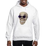 Skull Purple Glasses Hooded Sweatshirt