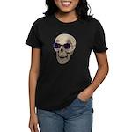 Skull Purple Glasses Women's Dark T-Shirt