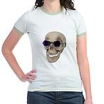 Skull Purple Glasses Jr. Ringer T-Shirt