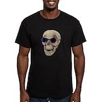 Skull Purple Glasses Men's Fitted T-Shirt (dark)