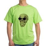 Skull Purple Glasses Green T-Shirt