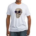 Skull Purple Glasses Fitted T-Shirt