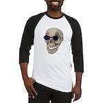 Skull Purple Glasses Baseball Jersey
