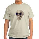 Skull Purple Glasses Light T-Shirt