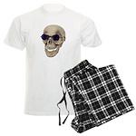 Skull Purple Glasses Men's Light Pajamas