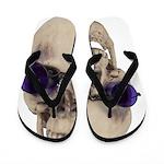Skull Purple Glasses Flip Flops