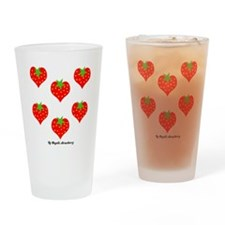Strawberry Love Drinking Glass
