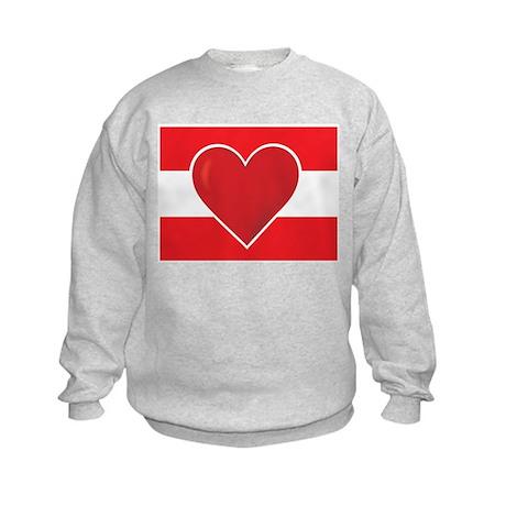 Heart Austria Flag Kids Sweatshirt