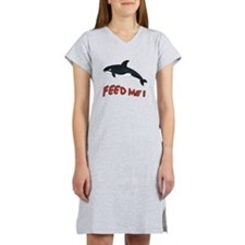 Whale - Feed Me Women's Nightshirt