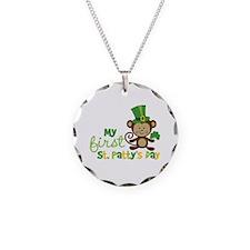 Monkey 1st St. Patrick's Day Necklace Circle Charm