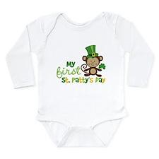 Monkey 1st St. Patrick's Day Long Sleeve Infant Bo