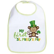Monkey 1st St. Patrick's Day Bib