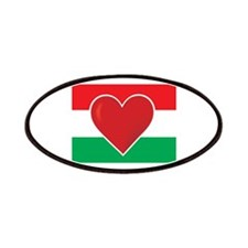 Heart Hungary Flag Patches